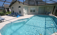 Large screened pool in our luxury Orlando rental home